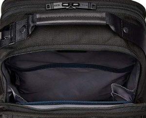 Tumi mochila t-pass Alpha 2 negra vista interior