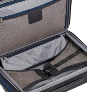 Tumi Alpha 2 equipaje de mano diseño interior