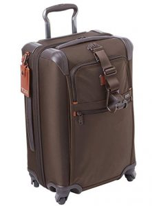 Tumi maleta internacional marrón vista general