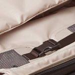 Tumi maleta internacional marrón tejido interior