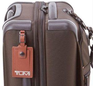 Tumi maleta internacional marrón diseño lateral