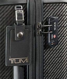 Tumi maleta Tegra Lite Schwarz grafito etiqueta identificativa