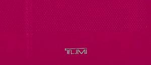 Tumi organizador bolso rosa funda iPad logo
