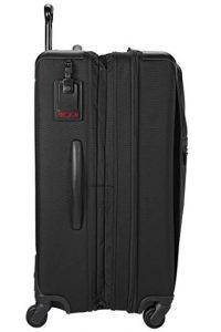 maleta tumi trolley alpha 2 negra diseño lateral