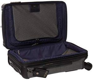 maleta Tumi Trolley lite negra tejido interior